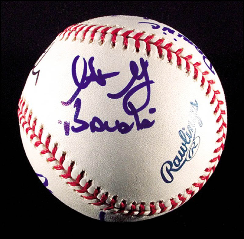Image 4 for The Sopranos TV Cast - Autographed Signed Baseball with co-signers - HFSID 271281