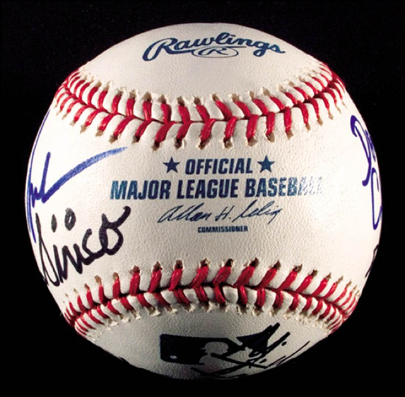 Image 7 for The Sopranos TV Cast - Autographed Signed Baseball with co-signers - HFSID 271281
