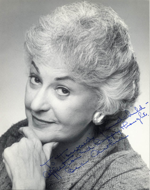 Image 1 for Beatrice 'Bea' Arthur - Autographed Inscribed Photograph - HFSID 271283