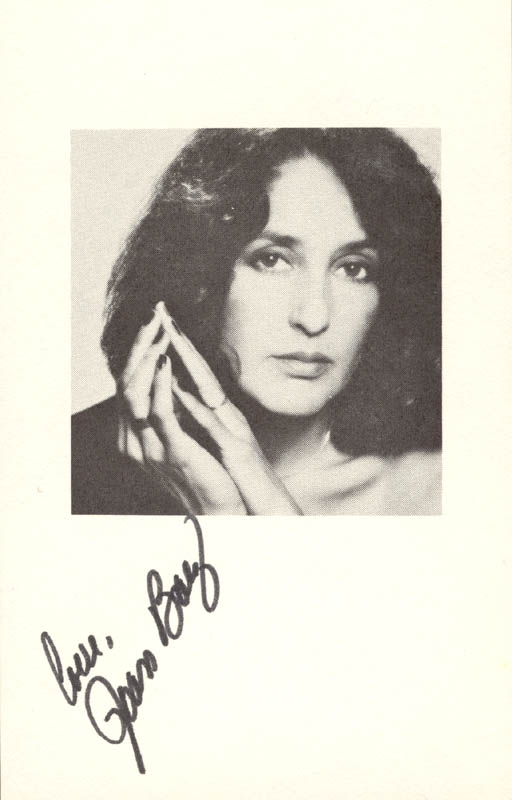 Image 1 for Joan Baez - Autographed Signed Photograph - HFSID 27130