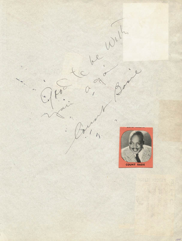 Image 1 for Count Basie - Autograph Sentiment Signed co-signed by: Dick Haynes, Marilyn Hare, Chili Williams - HFSID 27140