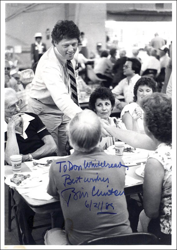 Image 1 for President William J. 'Bill' Clinton - Autographed Inscribed Photograph 06/21/1985 - HFSID 271440