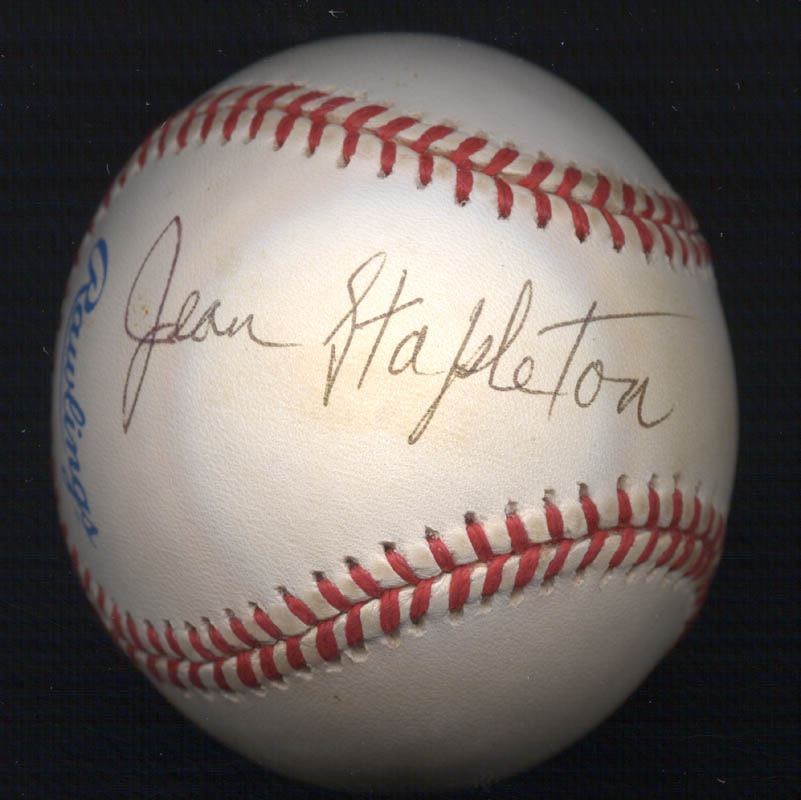 Image 1 for Jean Stapleton - Autographed Signed Baseball - HFSID 271519