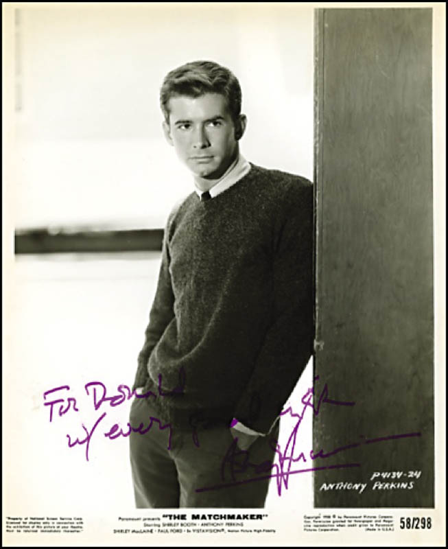 Image 1 for Anthony Perkins - Autographed Inscribed Photograph - HFSID 271531