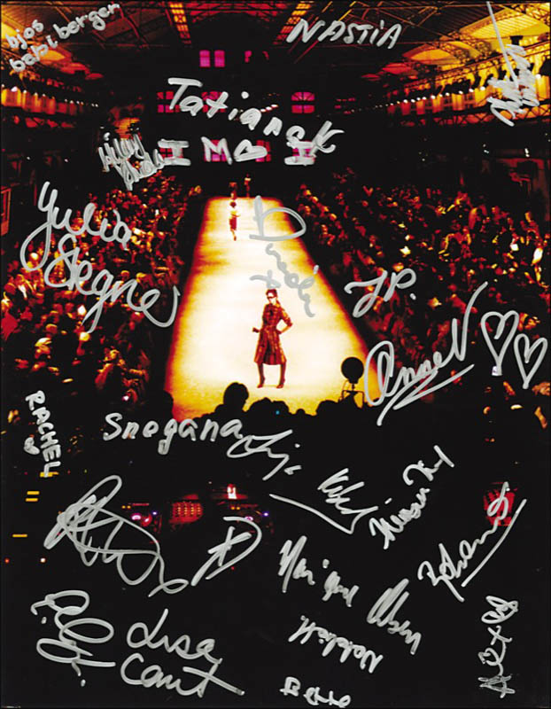 Image 1 for Supermodels - Autographed Signed Photograph Circa 2006 with co-signers - HFSID 271534