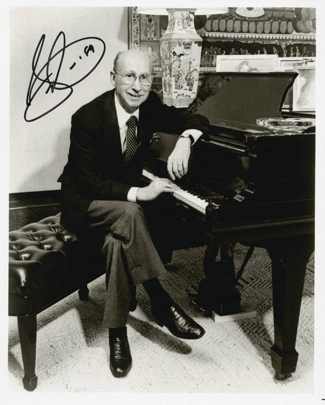 Image 1 for Sammy Cahn - Autographed Signed Photograph 1989 - HFSID 27205