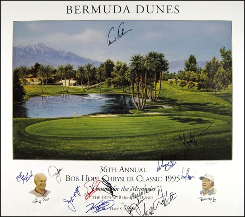 Image 1 for Arnold Palmer - Autographed Signed Poster with co-signers - HFSID 272088