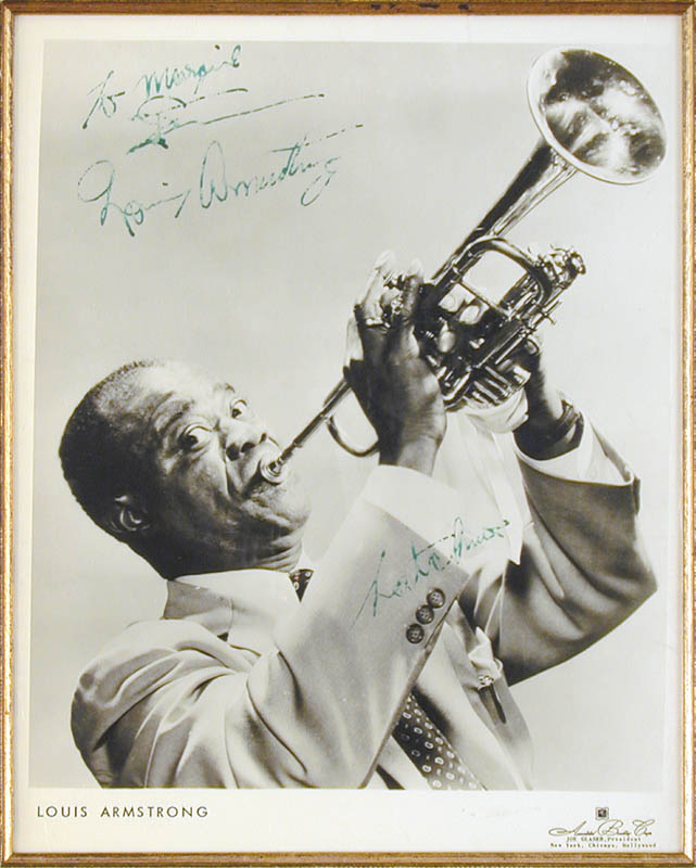 Image 3 for Louis 'Satchmo' Armstrong - Autographed Inscribed Photograph - HFSID 27208