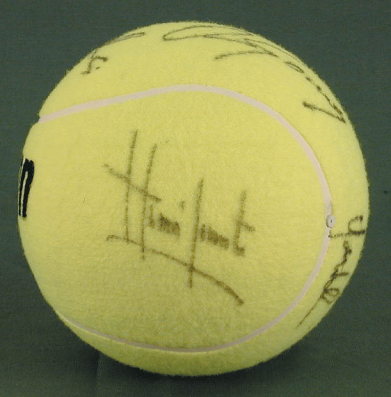 Image 3 for Jimmy Connors - Tennis Ball Signed co-signed by: John Mcenroe, Bjorn Borg, Andres Gomez, Mats Wilander, Henri Le Conte - HFSID 272093