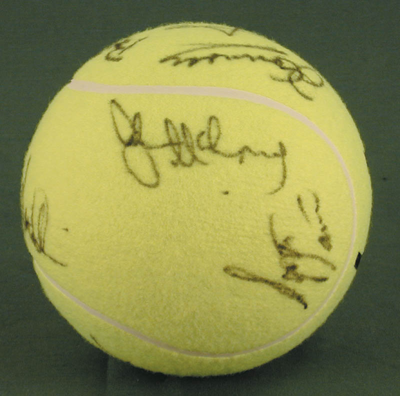 Image 6 for Jimmy Connors - Tennis Ball Signed co-signed by: John Mcenroe, Bjorn Borg, Andres Gomez, Mats Wilander, Henri Le Conte - HFSID 272093