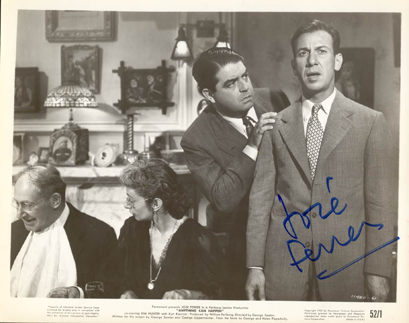 Image 1 for Jose Ferrer - Autographed Signed Photograph - HFSID 272110