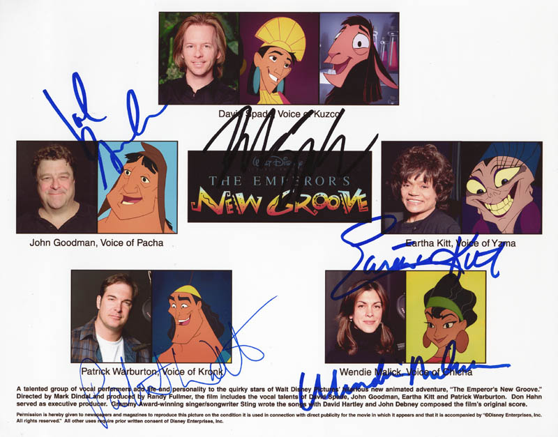 The Emperor\'\'s New Groove Movie Cast - Photograph Signed with ...