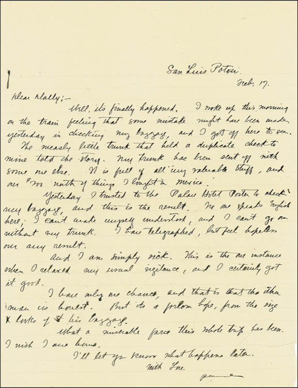 Image 1 for Zane Grey - Autograph Letter Signed 02/17 - HFSID 272573