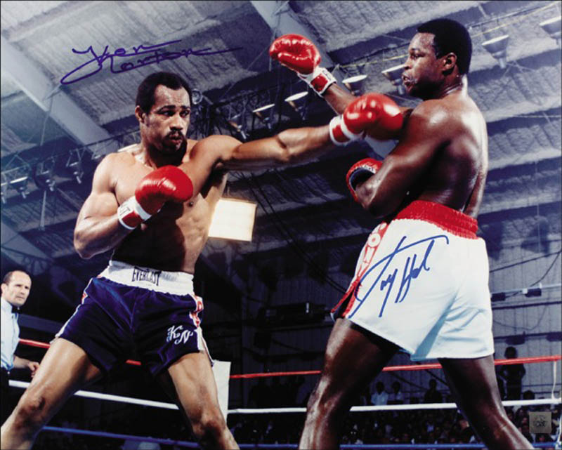 Image 1 for Larry Holmes - Autographed Signed Photograph co-signed by: Ken Norton - HFSID 272657
