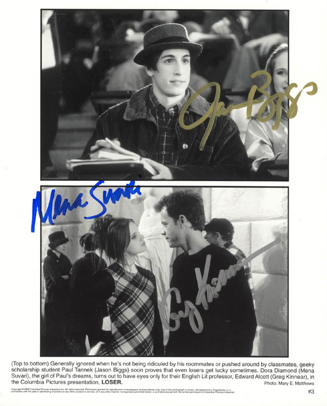 Image 1 for Loser Movie Cast - Autographed Signed Photograph co-signed by: Greg Kinnear, Mena Suvari, Jason Biggs - HFSID 272675