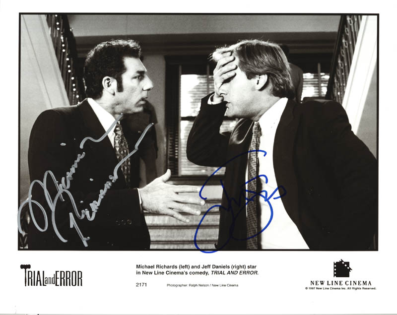 Image 1 for Trial And Error Movie Cast - Autographed Signed Photograph co-signed by: Michael Richards, Jeff Daniels - HFSID 272687