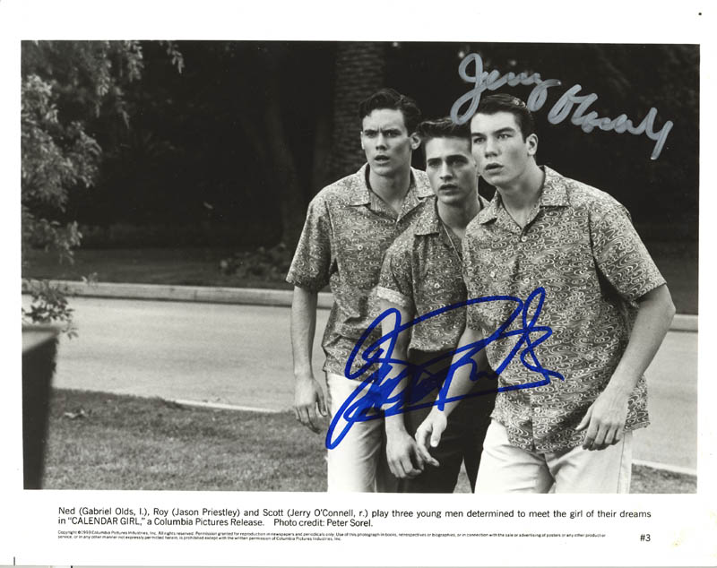 Calendar Girl Movie Cast - Photograph Signed with Cosigners