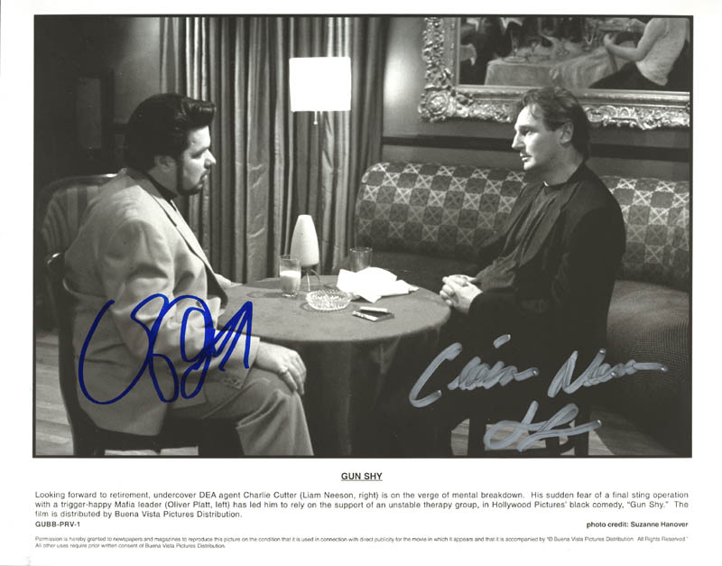 Image 1 for Gun Shy Movie Cast - Autographed Signed Photograph co-signed by: Oliver Platt, Liam Neeson - HFSID 272692