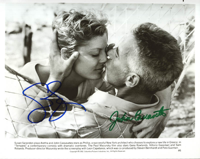 Image 1 for Tempest Movie Cast - Autographed Signed Photograph co-signed by: Susan Sarandon, John Cassavetes - HFSID 272694