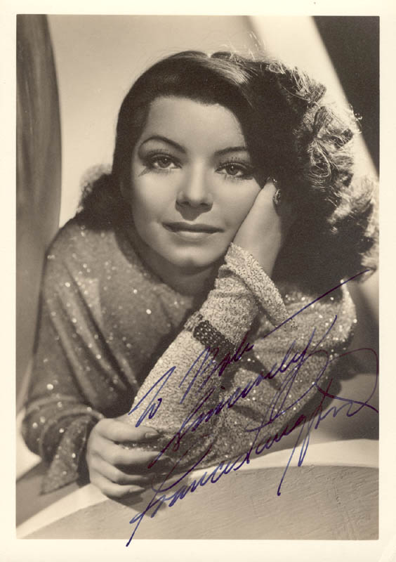Image 1 for Frances Langford - Autographed Inscribed Photograph - HFSID 272853
