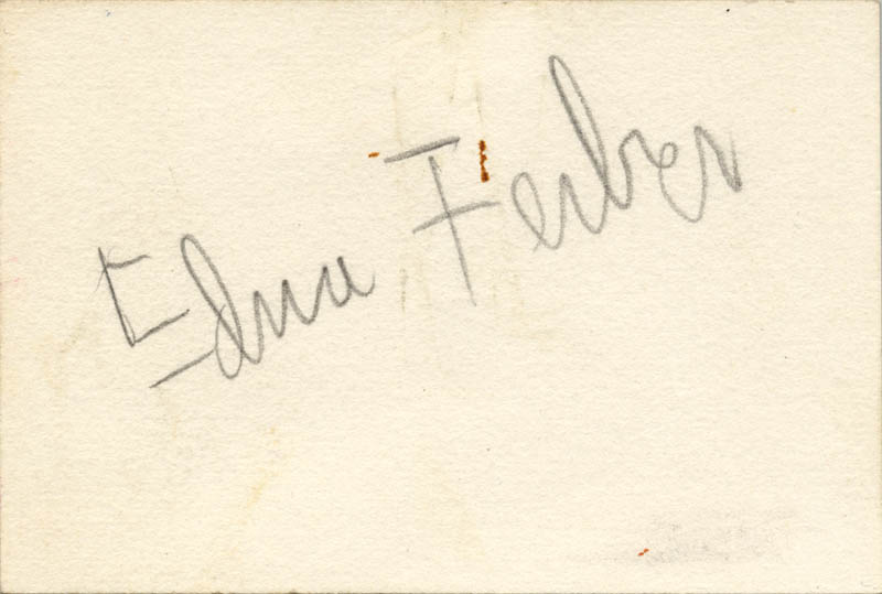 Image 1 for Edna Ferber - Autograph - HFSID 272995