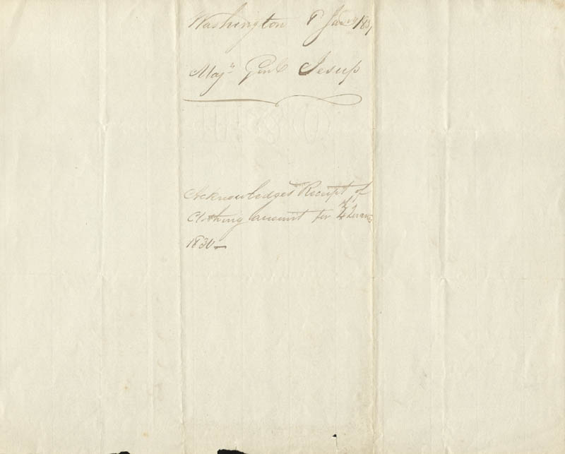 Image 3 for Brigadier General Thomas S. Jesup - Manuscript Letter Signed 01/18/1831 - HFSID 273045
