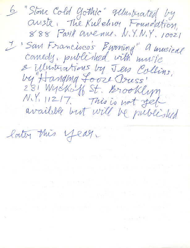Image 6 for Helen Adam - Autograph Letter Signed 03/02/1985 - HFSID 273071