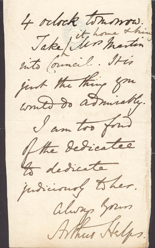 Image 1 for Arthur Helps - Autograph Letter Signed 10/27/1870 - HFSID 273101