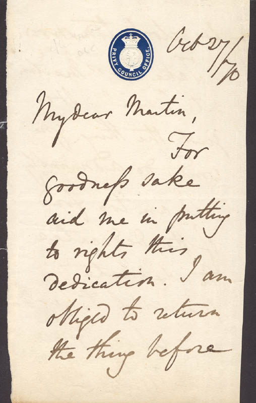 Image 3 for Arthur Helps - Autograph Letter Signed 10/27/1870 - HFSID 273101