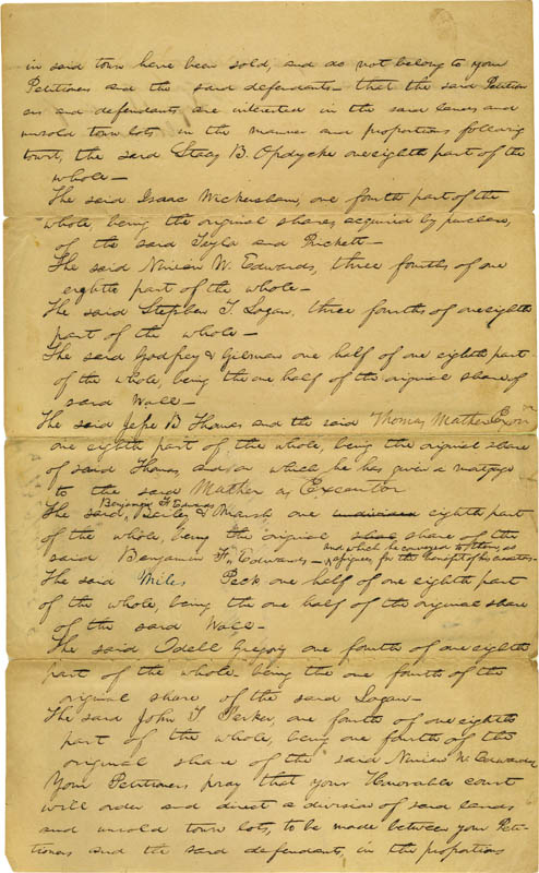 Image 4 for President Abraham Lincoln - Autograph Document Signed Circa 1844 - HFSID 273133