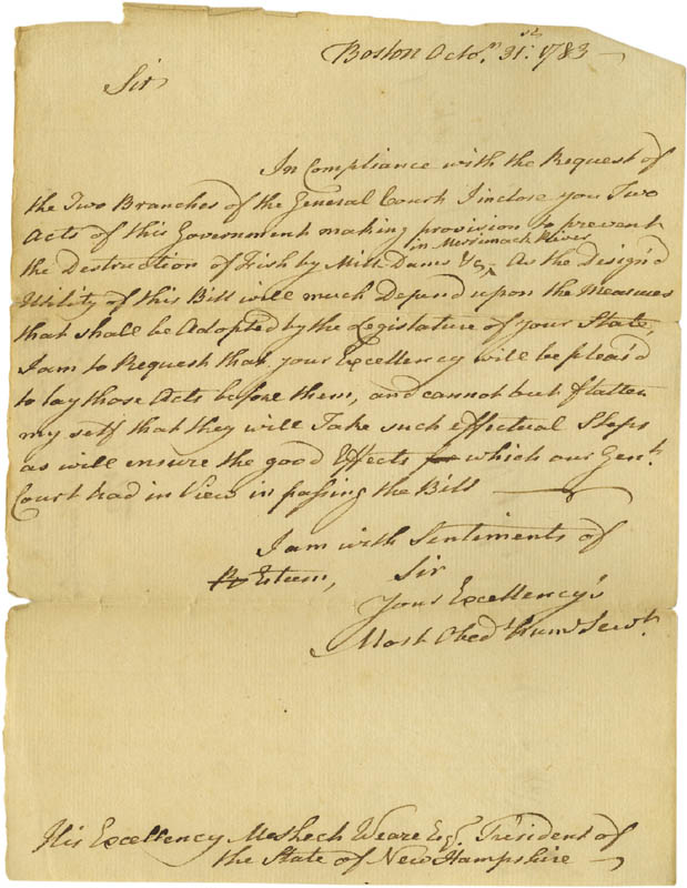 Image 1 for John Hancock - Autograph Letter Unsigned 10/31/1783 - HFSID 273139