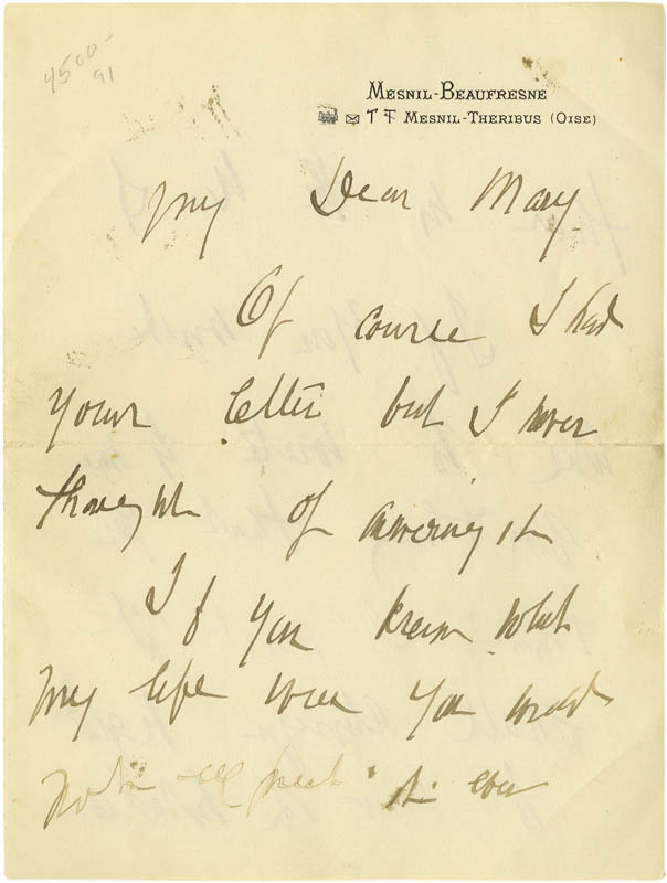 Image 1 for Mary Cassatt - Autograph Letter Signed - HFSID 273140
