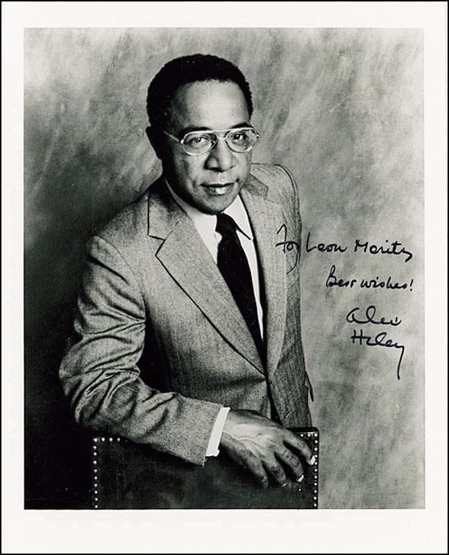 Image 1 for Alex Haley - Autographed Inscribed Photograph - HFSID 273156