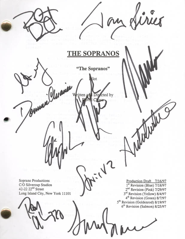 Image 1 for The Sopranos TV Cast - Script Signed with co-signers - HFSID 273186