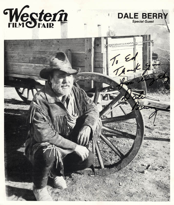 Image 1 for Dale Berry - Inscribed Printed Photograph Signed In Ink - HFSID 273229