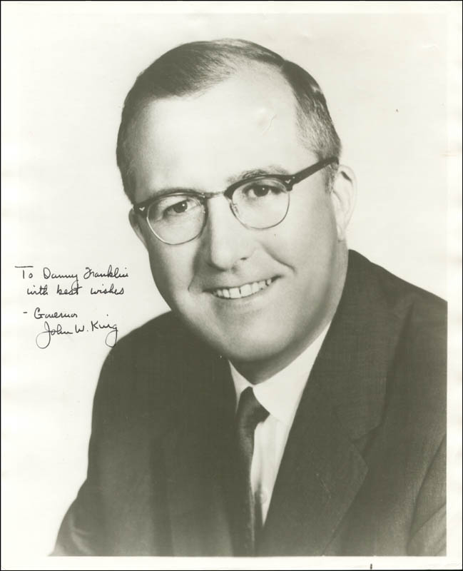 Image 1 for John W. King - Autographed Inscribed Photograph - HFSID 273344