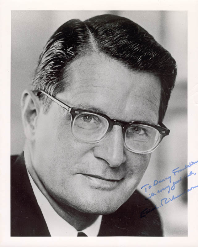 Image 1 for Elliot L. Richardson - Autographed Inscribed Photograph - HFSID 273448