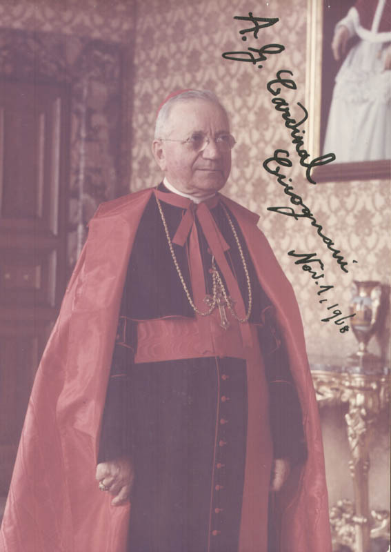 Image 1 for Amleto Giovanni 'A.G.' Cardinal Cicognani - Autographed Inscribed Photograph 11/01/1968 - HFSID 273774
