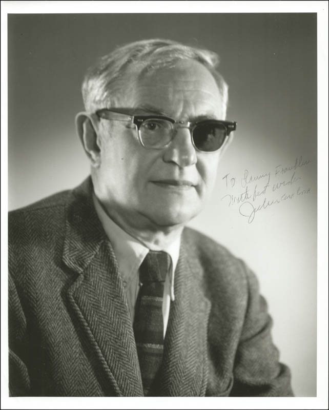 Image 1 for Julius Axelrod - Autographed Inscribed Photograph - HFSID 273798