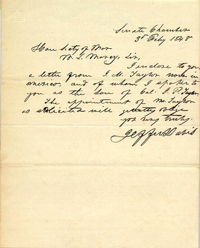 Image 1 for President Jefferson Davis (Confederate States Of America) - Autograph Letter Signed 02/03/1848 - HFSID 27380