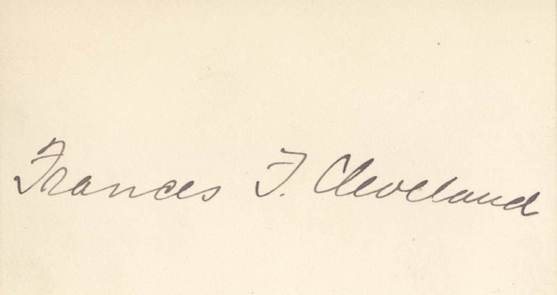 Image 1 for First Lady Frances F. Cleveland - Autograph - HFSID 274018