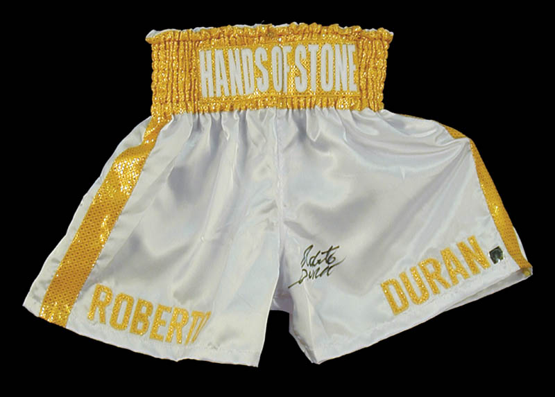 Image 3 for Roberto 'Hands Of Stone' Duran - Boxing Trunks Signed - HFSID 274051