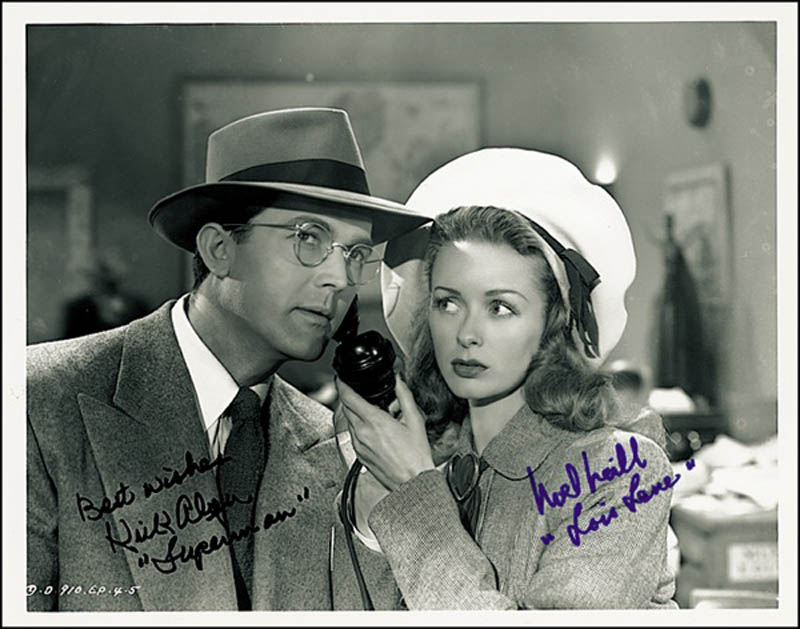 Image 1 for Superman Movie Cast - Autographed Signed Photograph co-signed by: Noel Neill, Kirk Alyn - HFSID 274067
