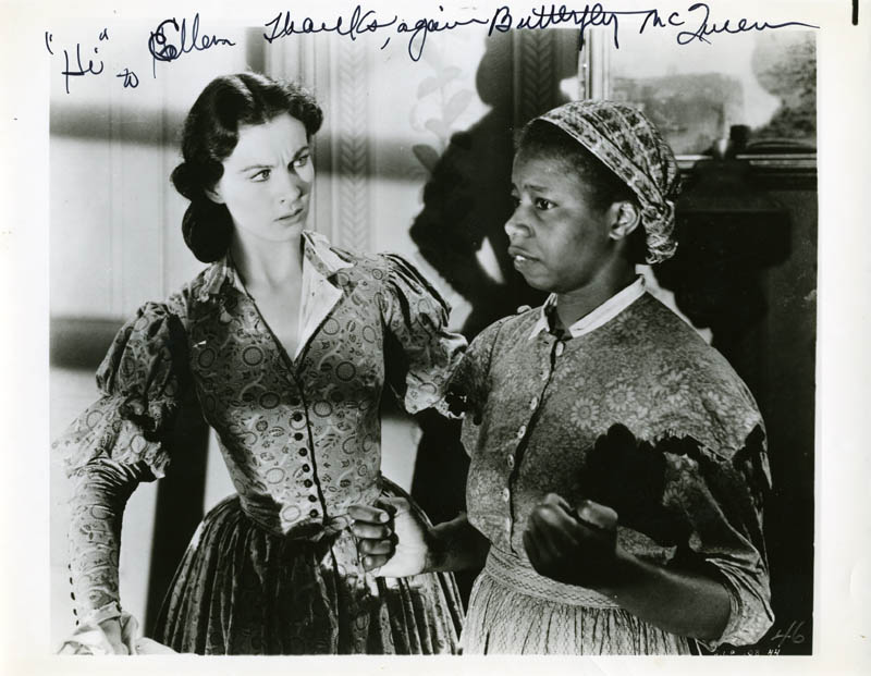 Image 1 for Butterfly Mcqueen - Autographed Inscribed Photograph - HFSID 274127
