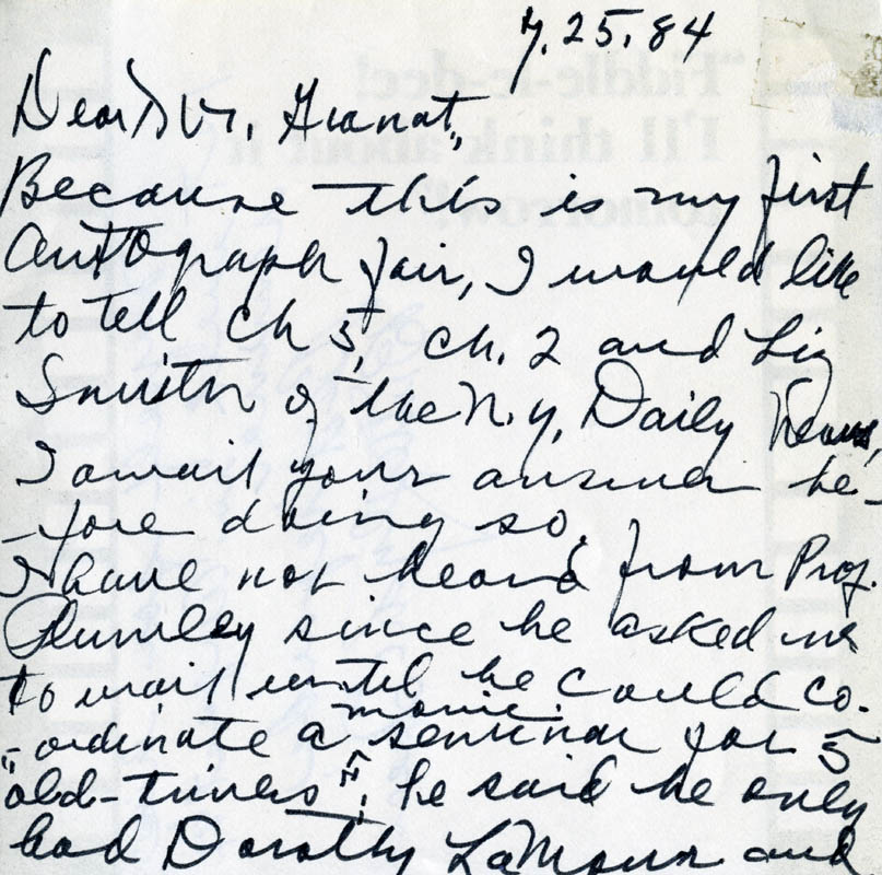 Image 3 for Butterfly Mcqueen - Autograph Letter Signed 07/25/1984 - HFSID 274129