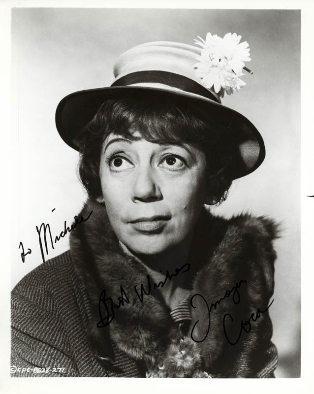 Image 1 for Imogene Coca - Autographed Inscribed Photograph - HFSID 274137