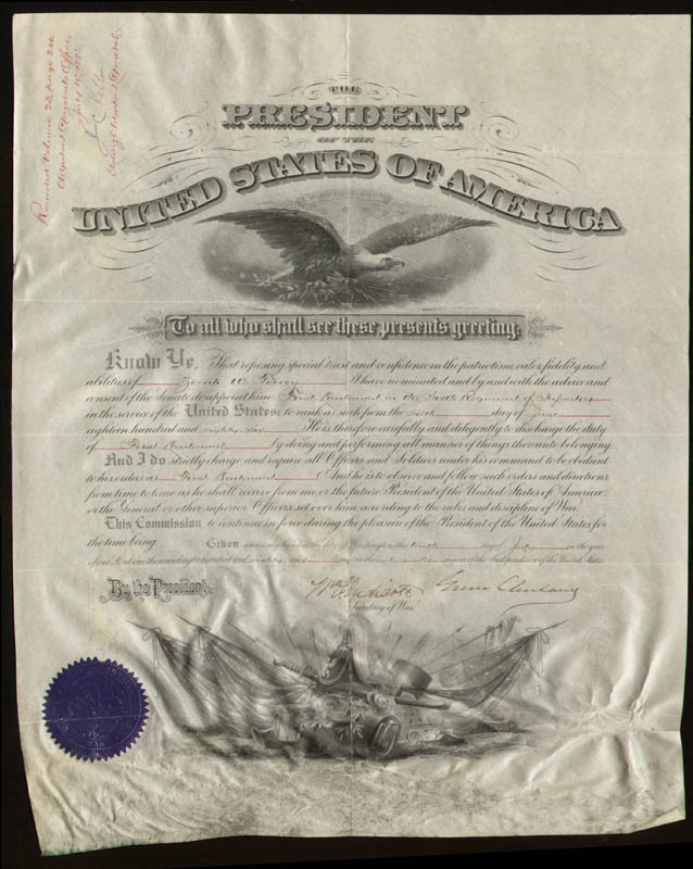 Image 1 for President Grover Cleveland - Military Appointment Signed 07/10/1886 co-signed by: William C. Endicott - HFSID 27417
