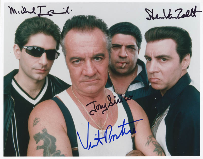 Image 1 for The Sopranos TV Cast - Autographed Signed Photograph co-signed by: Michael Imperioli, Steven Van Zandt, Tony Sirico, Vincent Pastore - HFSID 274196