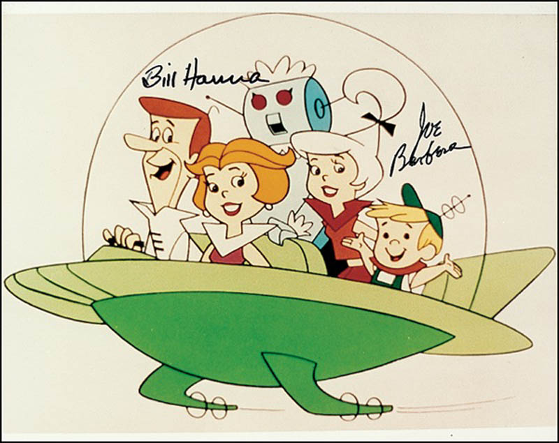 Image 1 for Bill Hanna - Autographed Signed Photograph co-signed by: Joseph Barbera - HFSID 274227