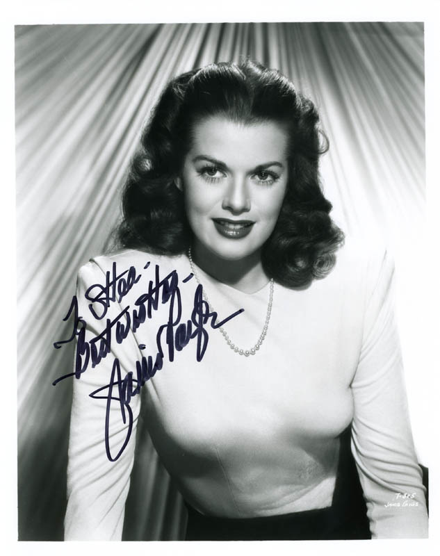 Image 1 for Janis Paige - Autographed Inscribed Photograph - HFSID 274259